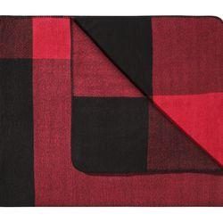 Throw Blanket in Black/Red Plaid, $35