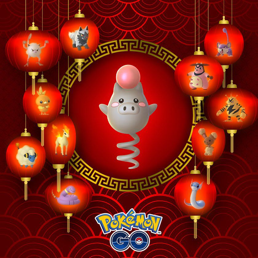 Lunar New Year event in Pokémon Go art