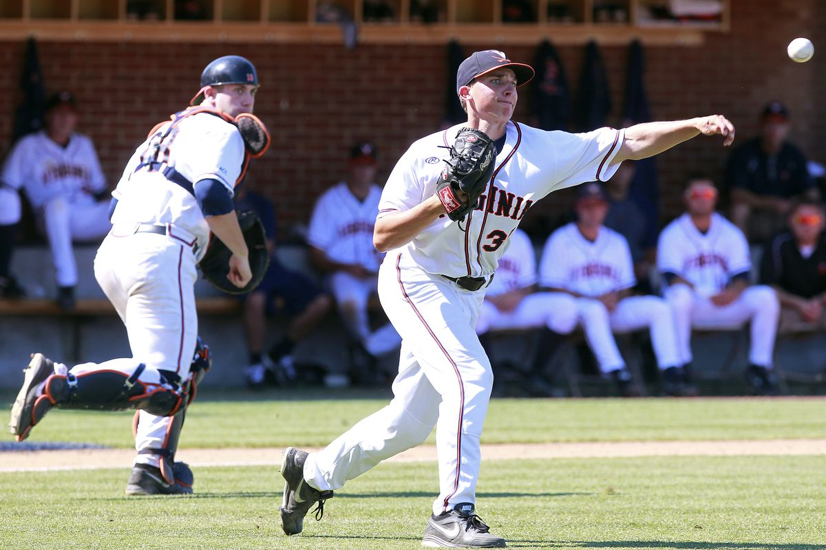 Nick Howard playing the field for Virginia