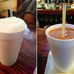 """<b>The Rusty Nail:</b> """"Pimm's Cup daiquiri is in constant rotation alongside the disco lemonade, a snowy whip of vodka and sake."""" 1100 Constance.<span class=""""credit""""> [Photos: <a href=""""http://www.yelp.com/biz_photos/the-rusty-nail-new-orleans?select=DfXl"""