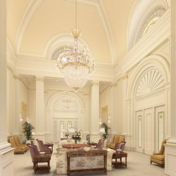 A rendering of the celestial room inside the Tooele Valley Utah Temple.