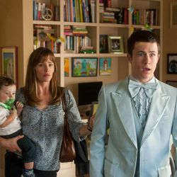 """Prom night doesn't look good for big brother Anthony (Dylan Minnette) in """"Alexander and the Terrible, Horrible, No Good, Very Bad Day,"""" in theaters Oct. 10. Also pictured are Jennifer Garner and Zoey/Elise Vargas."""