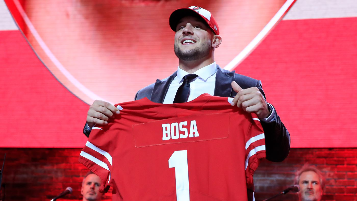 Kevin Seifert has Nick Bosa as a rookie that will be a star for five-plus years