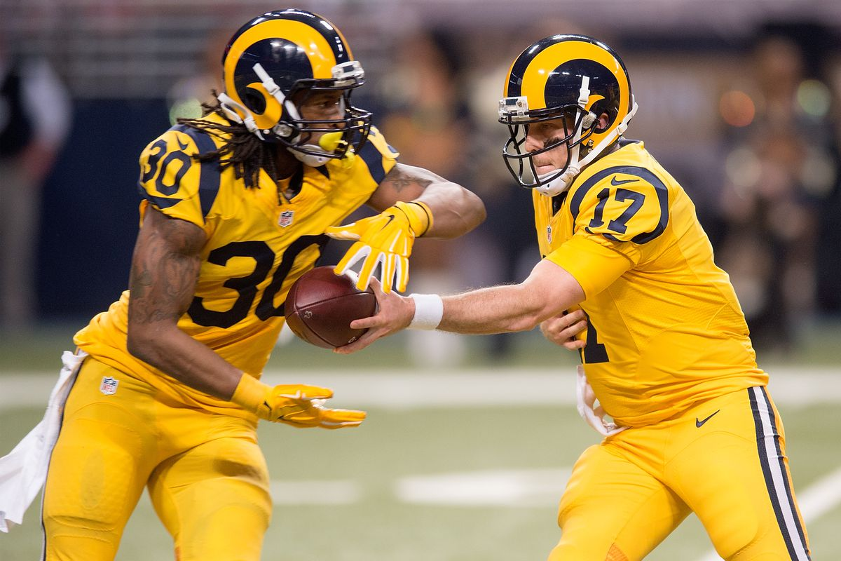 Los Angeles Rams QB Case Keenum and RB Todd Gurley