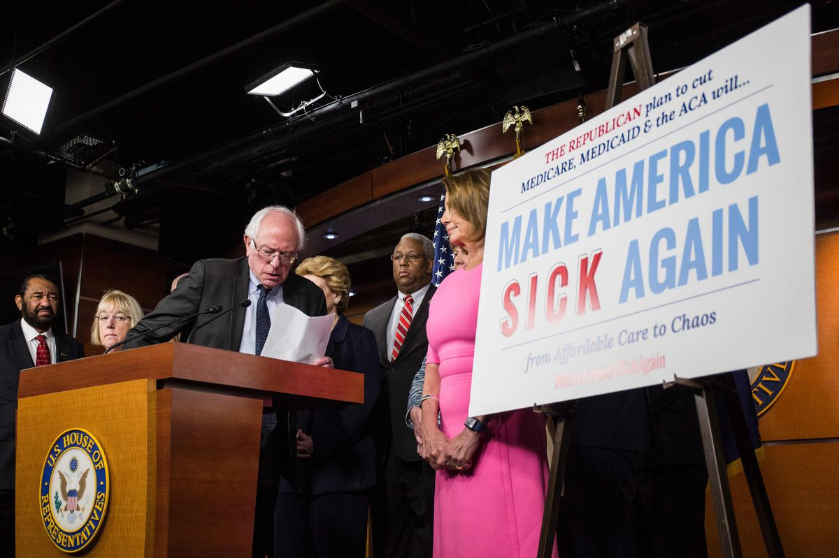 Sen. Bernie Sanders, I-Vermont, is among the national leaders fighting attempts by Republicans to dismantle Medicare, Medicaid and the Affordable Care Act. | Zach Gibson/Getty Images file photo
