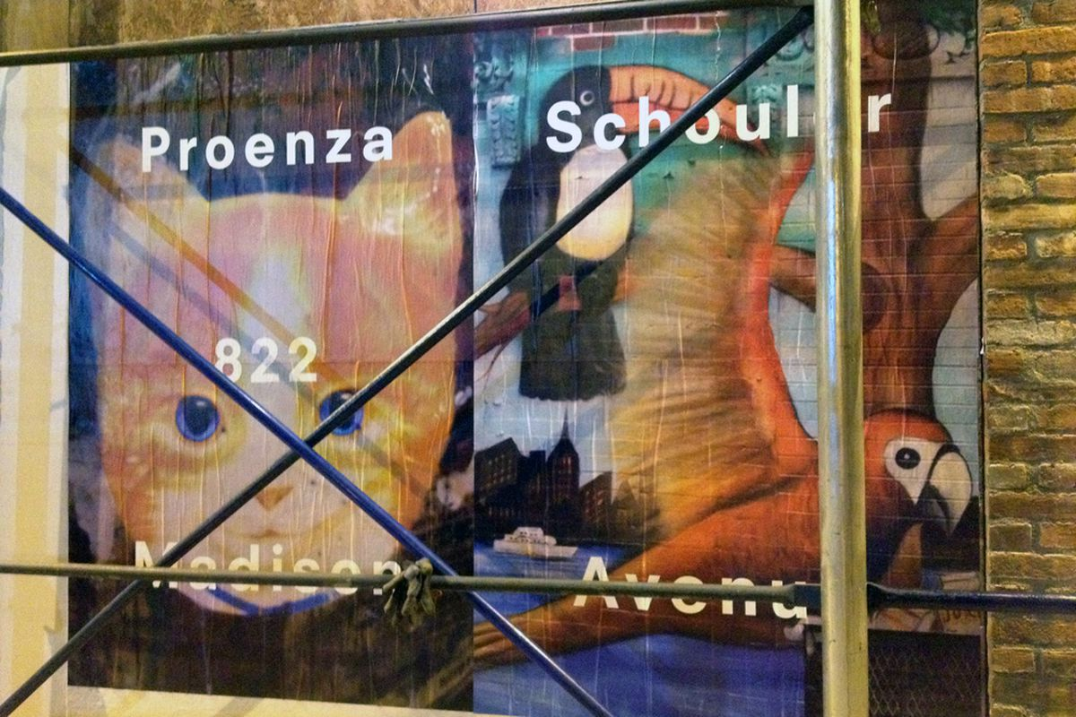 Proenza Schouler ad on the Lower East Side