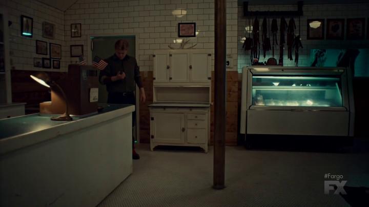 Ed in the butcher shop on Fargo.