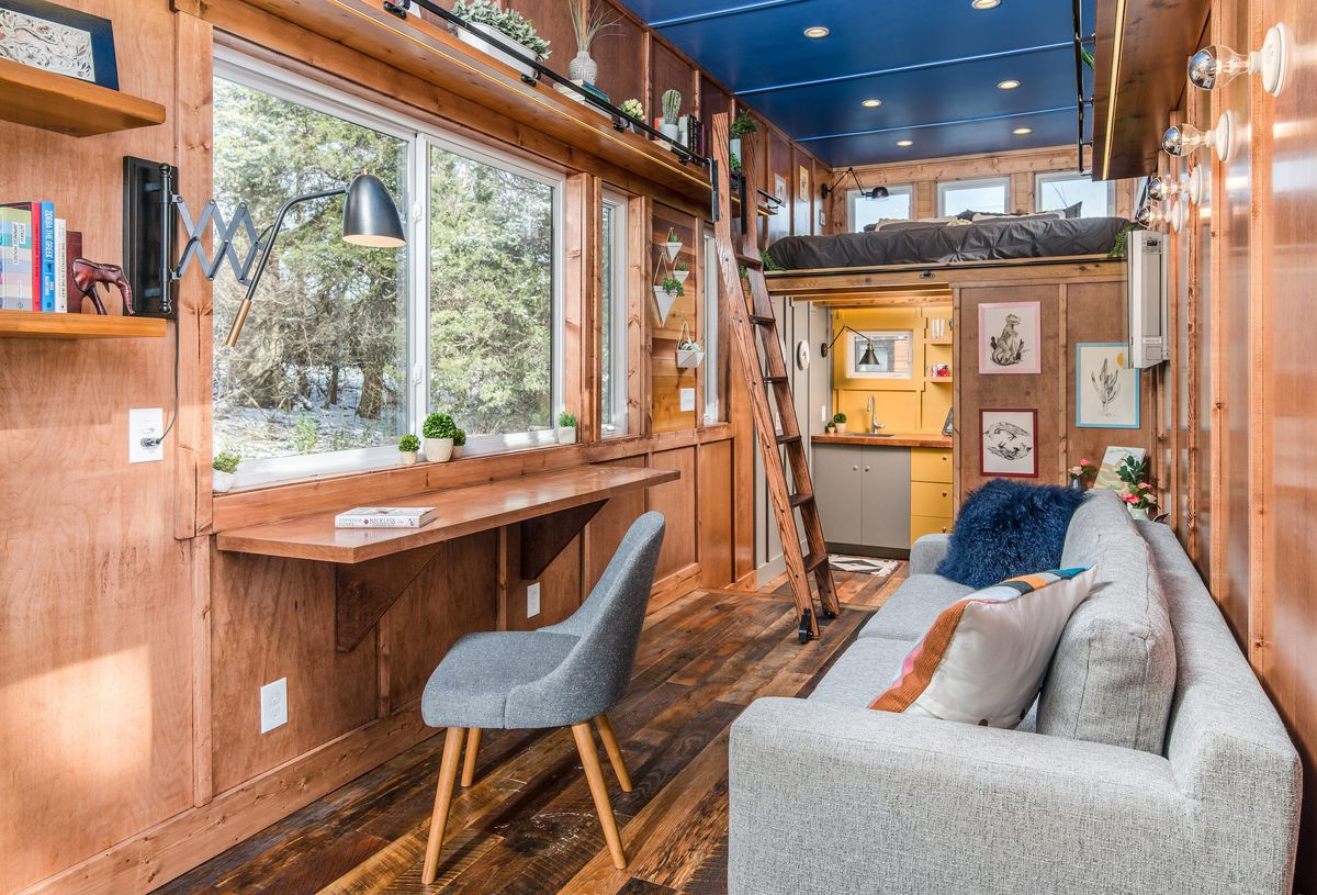 New tiny house also serves as writing studio and library - Curbed