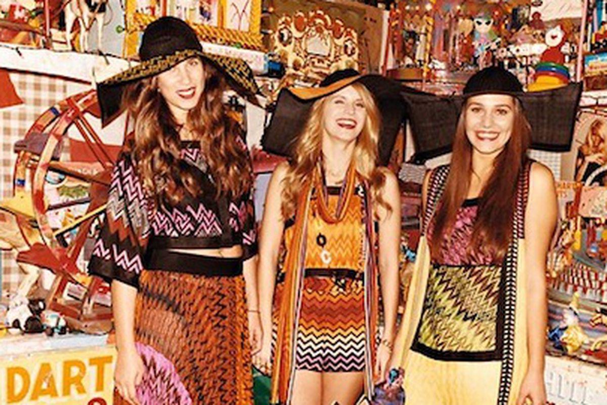 "Missoni girls like their art crazy colorful. Image via <a href=""http://www.nytimes.com/2011/01/11/fashion/11iht-fmissoni11.html"">NYTimes</a>."
