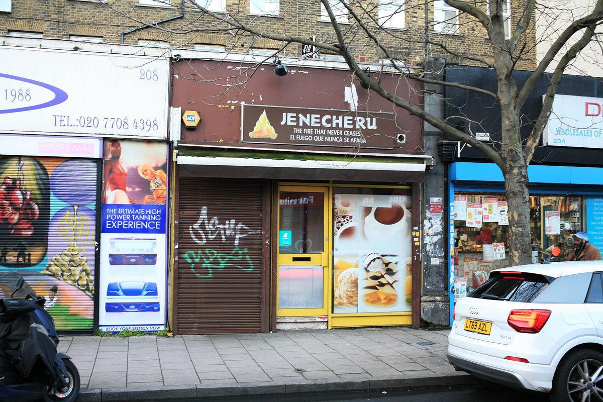 Jenecheru on Old Kent Road closed during the coronavirus lockdown in London