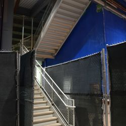 10:05 p.m. New staircase now open in left-center field -