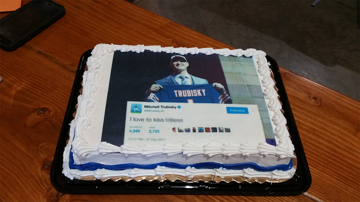 Bears Fan Receives Birthday Cake Decorated With Old Nsfw Mitchell