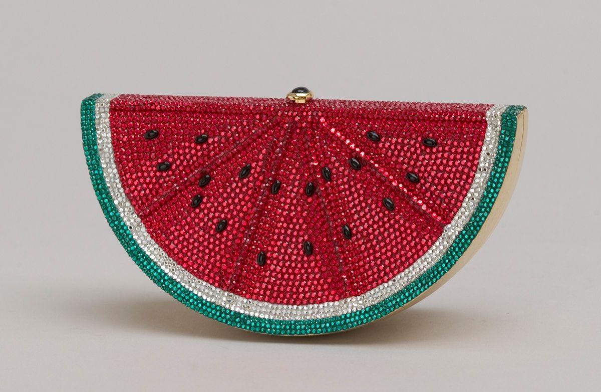 Watermelon rhinestone clutch.
