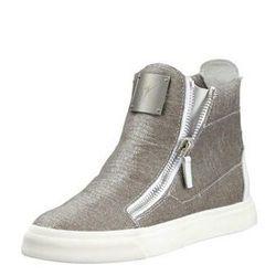 "<b>Giuseppe Zanotti</b> Laceless Stingray-Embossed Sneaker, <a href=""http://www.bergdorfgoodman.com/Giuseppe-Zanotti-Laceless-Stingray-Embossed-Sneaker-Silver/prod90860003_cat396600__/p.prod?icid=&searchType=EndecaDrivenCat&rte=%252Fcategory.service%253Fi"