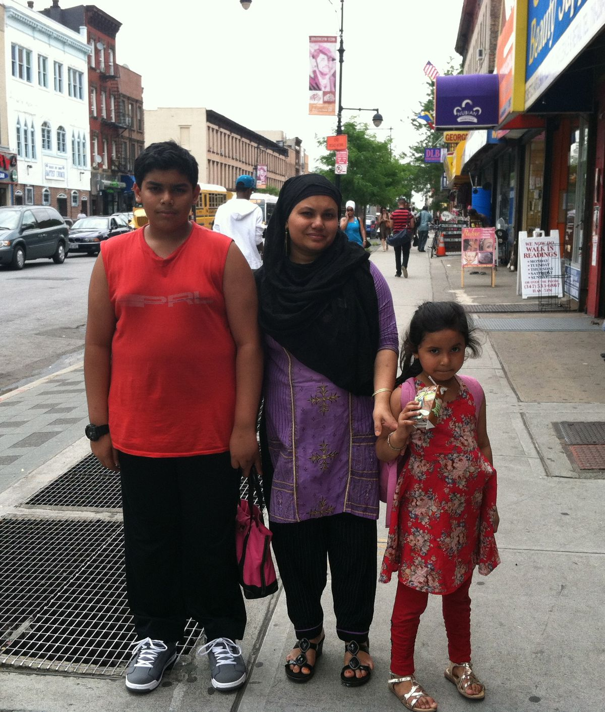Safwan Akhder says the only summer program she heard about from her daughter Sazidah's school, P.S. 93, is too far away, so she'll stay home and read books with her brother Sumi, a rising sophomore at Brooklyn Tech who wants to join a summer soccer team.