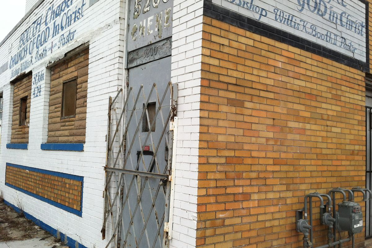 The site of Chene Street Grocers, a new market headed to Poletown this summer.