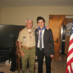 David Archuleta received his Eagle Scout Award in December 2010, two years after he completed it. The celebrity singer from Murray was encouraged by one of his leaders, Cal Madsen, right.