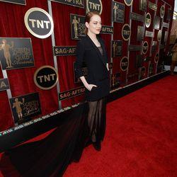 Emma Stone in Dior Couture.