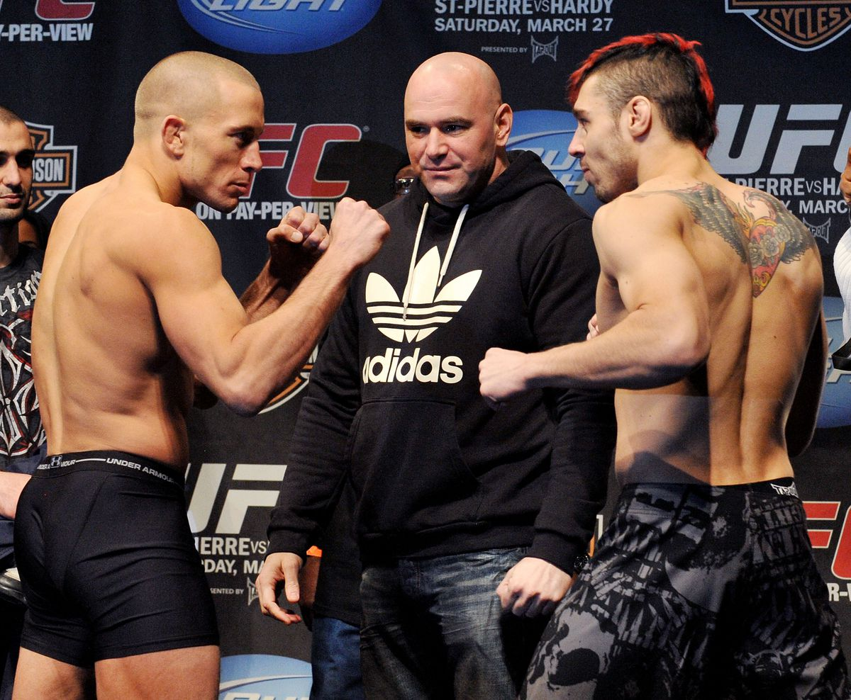 UFC 111: St-Pierre v Hardy Weigh-In
