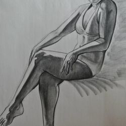 A figure drawing BYU undergraduate Taylor Holt submitted with her application to the school's competitive animation program