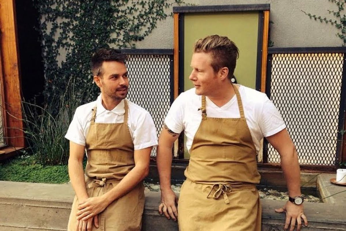 Chefs Ryan Pollnow (left) and Thomas McNaughton (right)