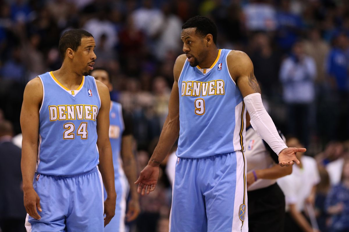 Iguodala can't offer Andre Miller a reason why he was left off the All Defensive team.