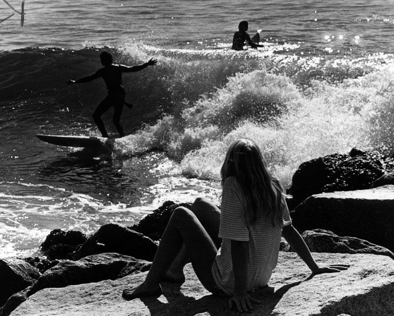 Surfers at Will Rogers Beach