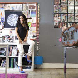 Ariel Gordon inside her design studio.