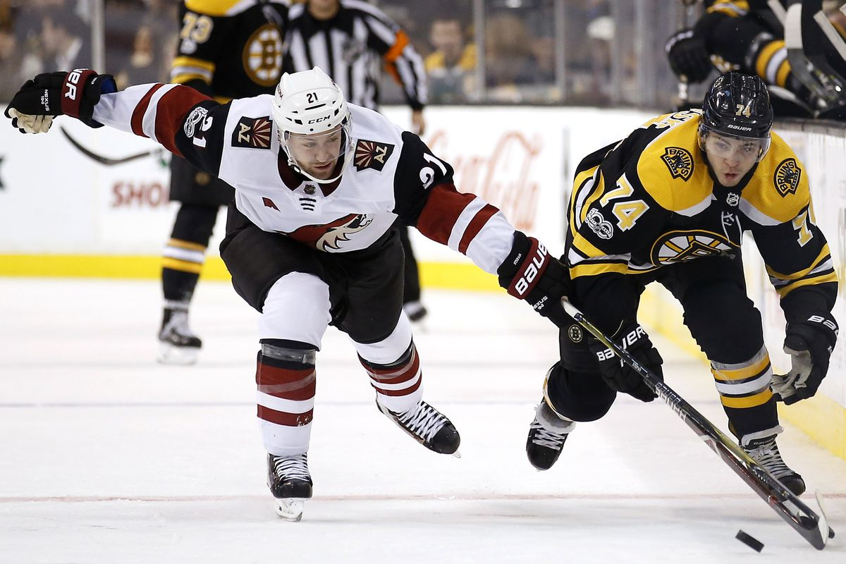 gdt: coyotes face off against a battered boston bruins - five for