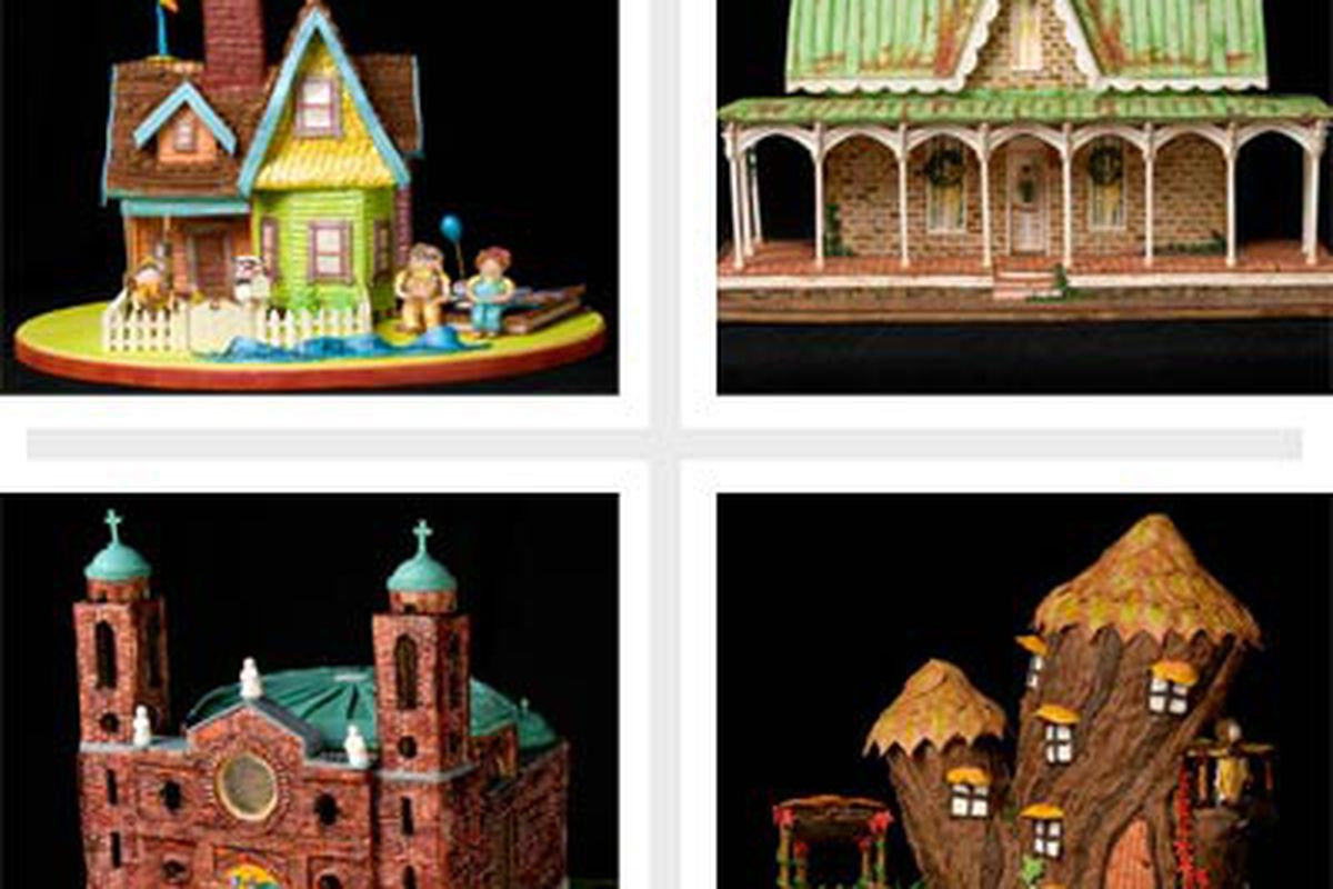 4 cool gingerbread houses.