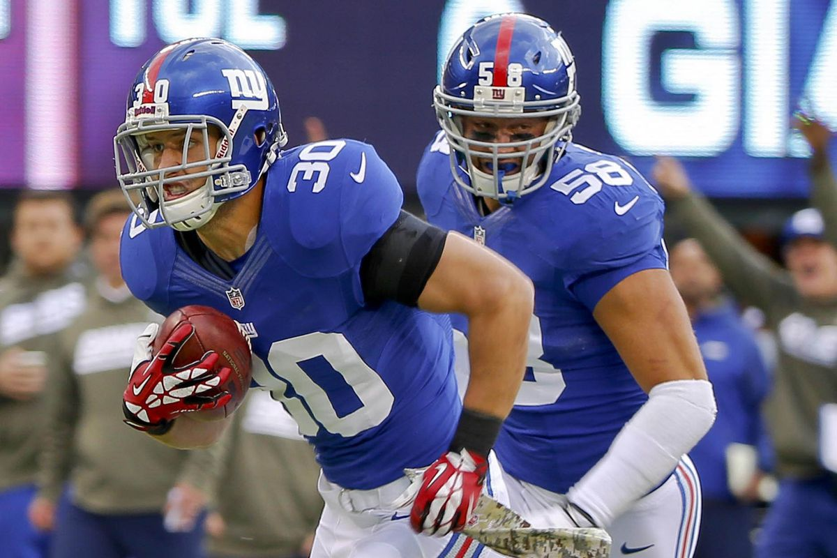Cooper Taylor is among today's Giants' inactives