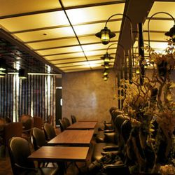 Upstairs restaurant.