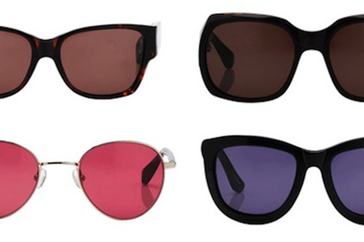 """We have mixed feelings on the colored lenses. Image via <a href=""""http://www.nitrolicious.com/blog/2010/07/27/the-row-by-linda-farrow-fall-2010-sunglasses-collection/"""">Nitrolicious</a>."""