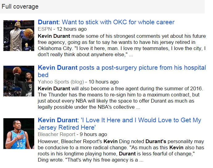 Kevin Durant News