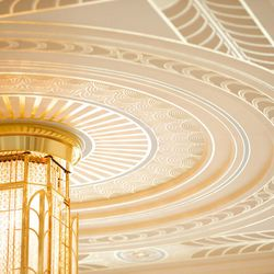 Ogden Utah Temple hand painted ceiling.