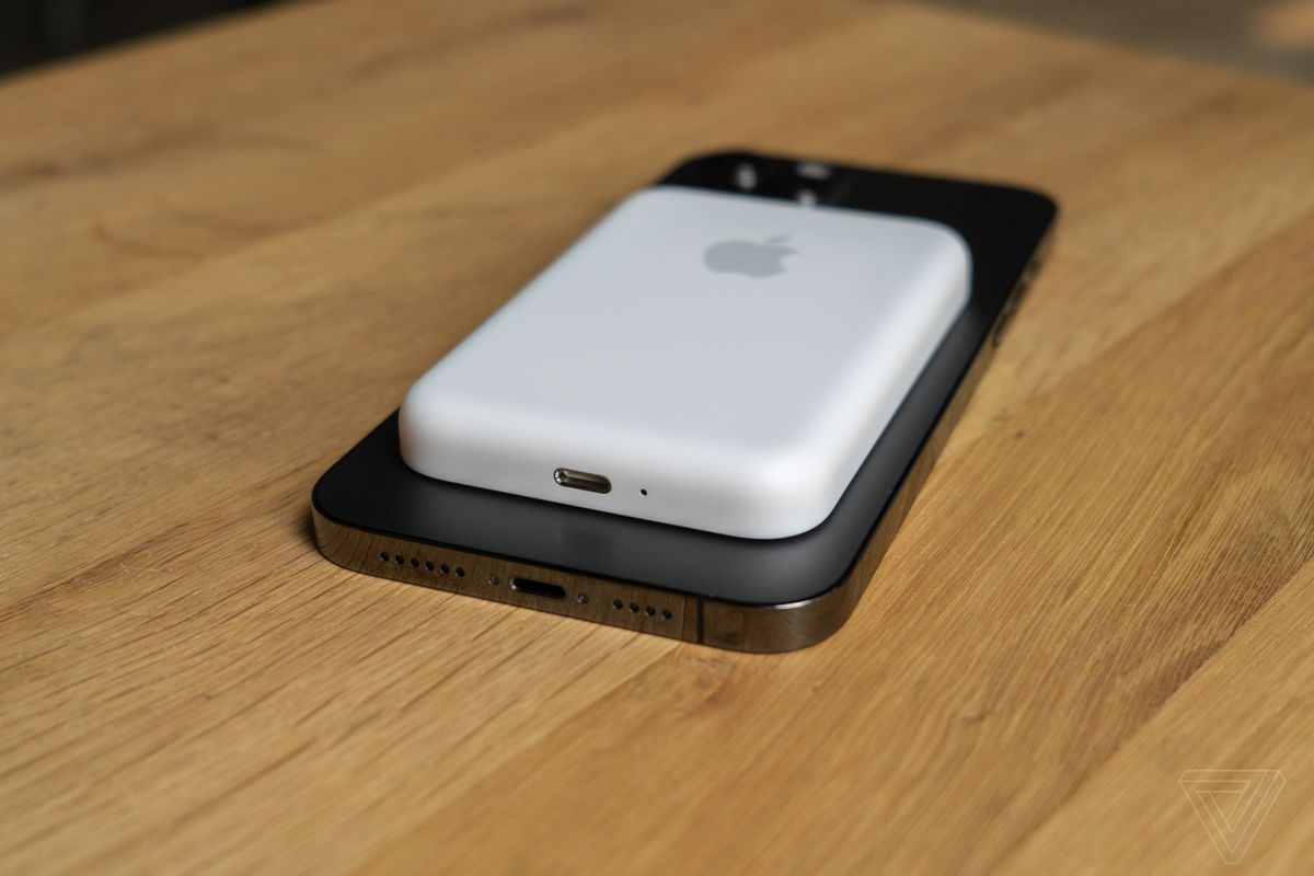 The MagSafe Battery Pack on an iPhone 12 Pro Max