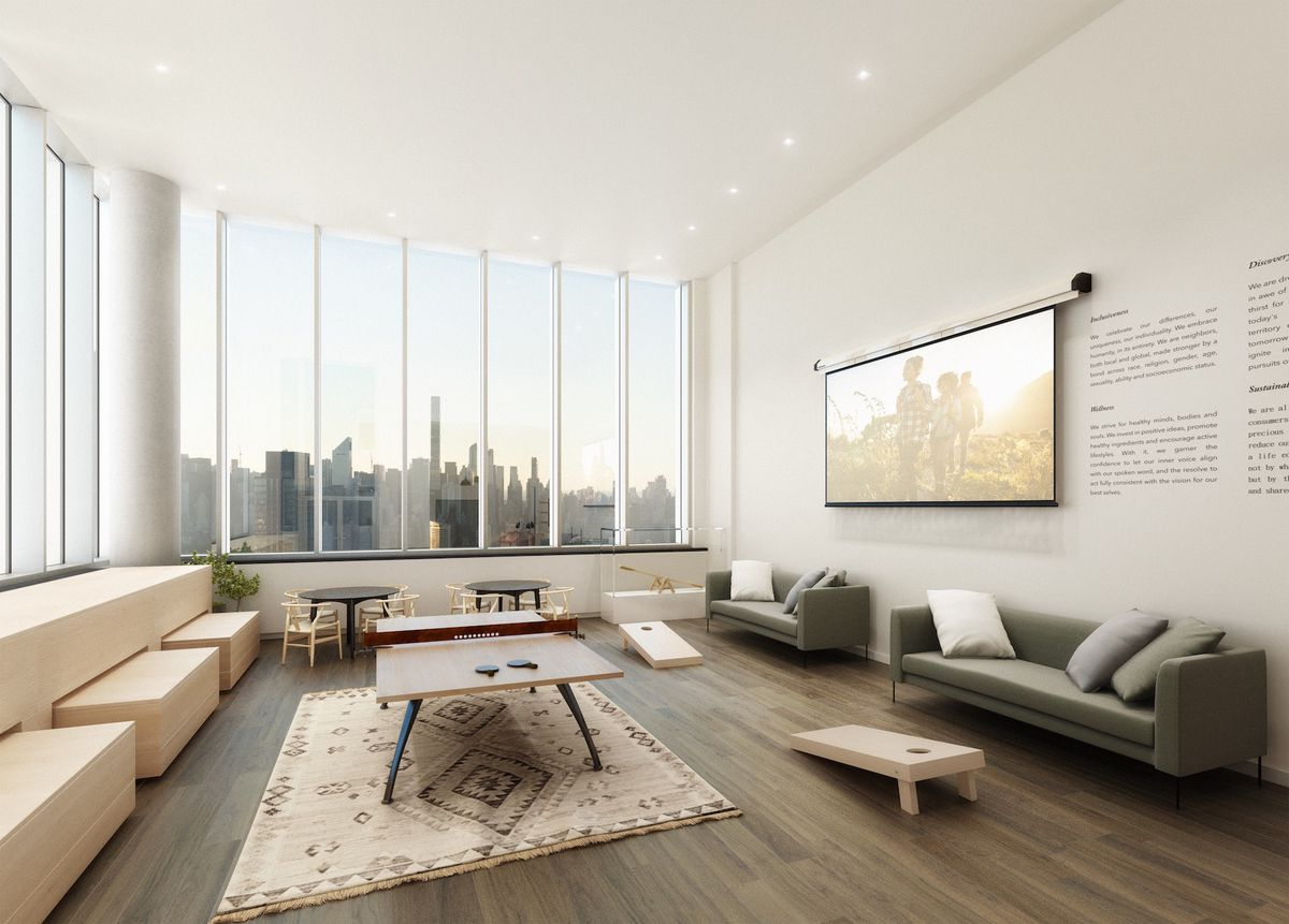 Peek at the posh amenities of long island city s first co - Long island city 3 bedroom apartments ...