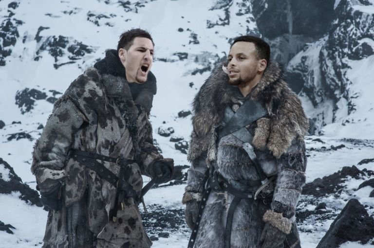 Klay and Curry as a band of brothers.