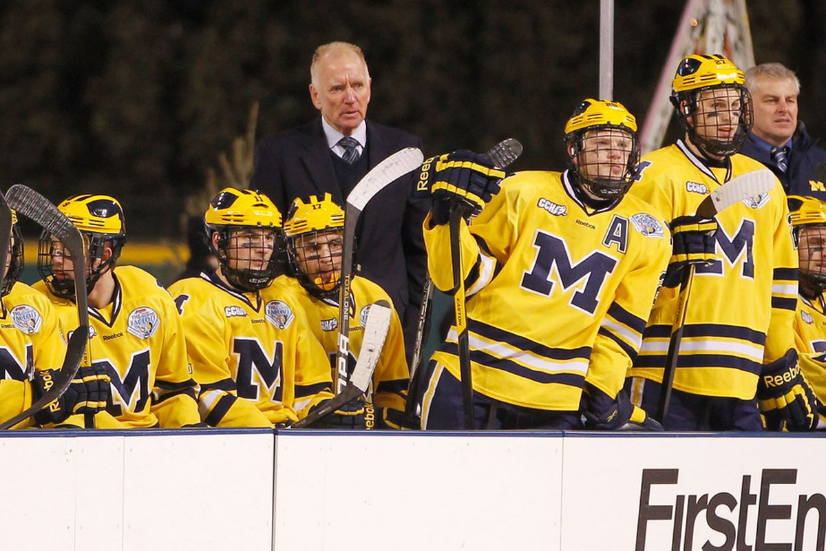 Red Berenson and the Michigan Wolverines will have a chance to keep their NCAA Tournament streak alive Sunday against Notre Dame.