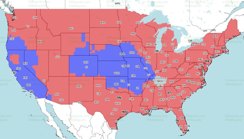 Week 3 Packers Broadcast Map