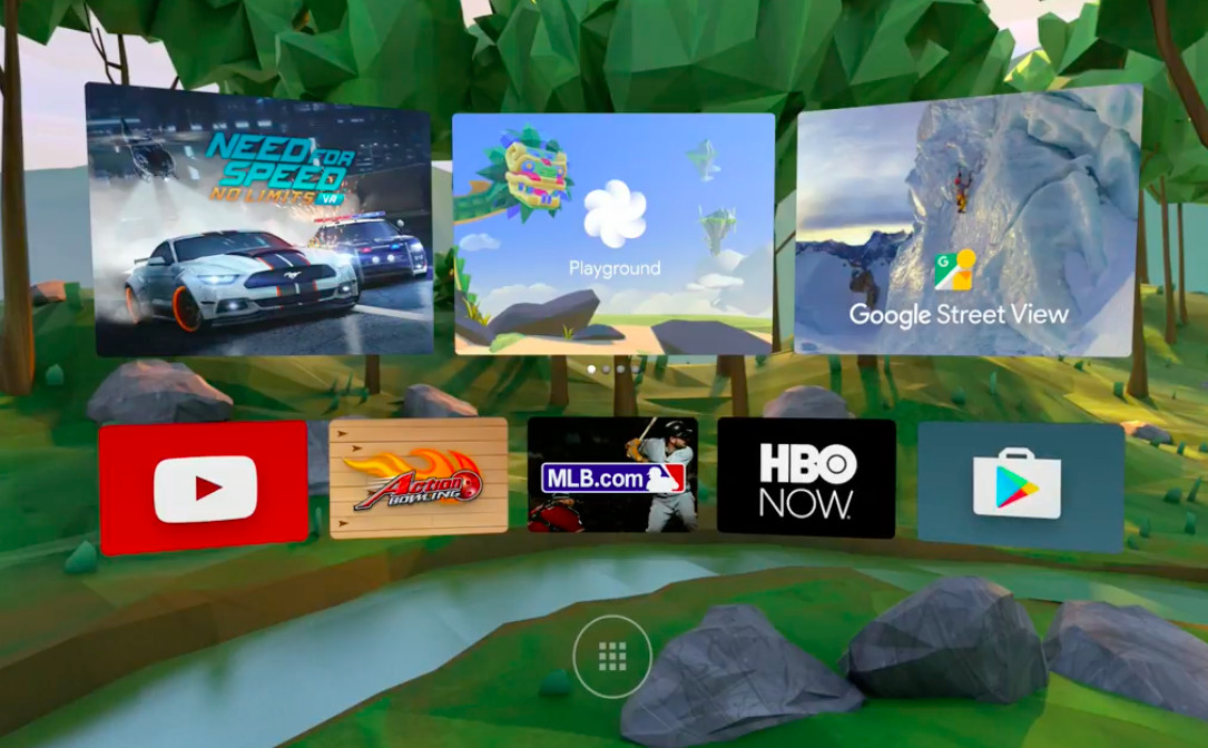 android vr interface