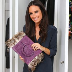 """""""<a href=""""http://www.hipswap.com/handbags-clutches/leonella-borghi-purple-leather-clutch"""">This</a> Leonello Borghi clutch is the perfect party purse. I could see someone like Katy Perry carrying this. I was so in love with this bag and the feathers really"""