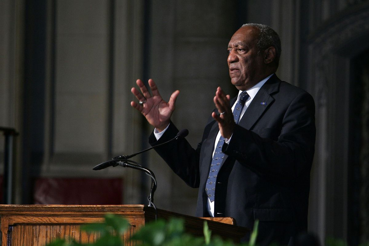 NEW YORK - AUGUST 24:  Actor Bill Cosby speaks at jazz musician Max Roach's funeral service at the Riverside Church on August 24, 2007 in New York City.  (Photo by Bryan Bedder/Getty Images)