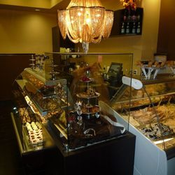 Another view of the gelato bar and sweets at Chocolat Bistro.