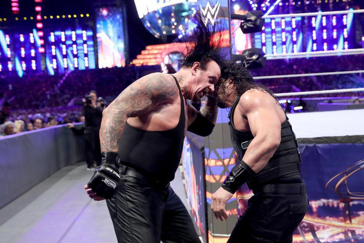 Cageside Community Star Ratings: Undertaker vs. Roman ...