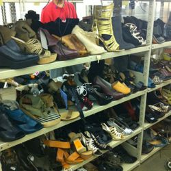 If you look closely, you'll see last year's Nicholas Kirkwood x Rodarte platform peeking out of the fray.