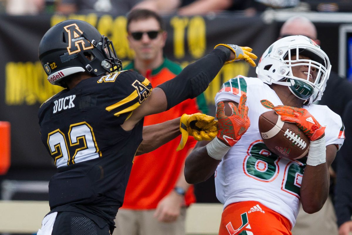 NCAA Football: Miami at Appalachian State