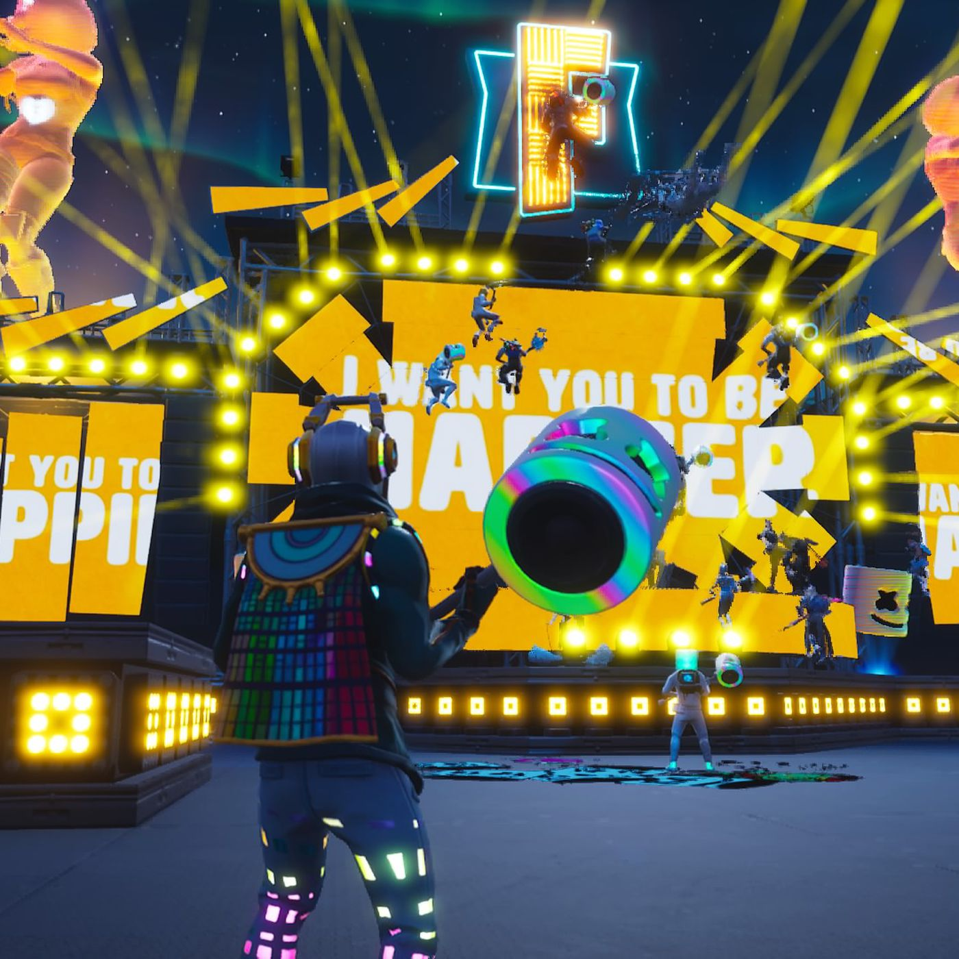 Fortnite S Marshmello Concert Was A Bizarre And Exciting Glimpse Of The Future The Verge