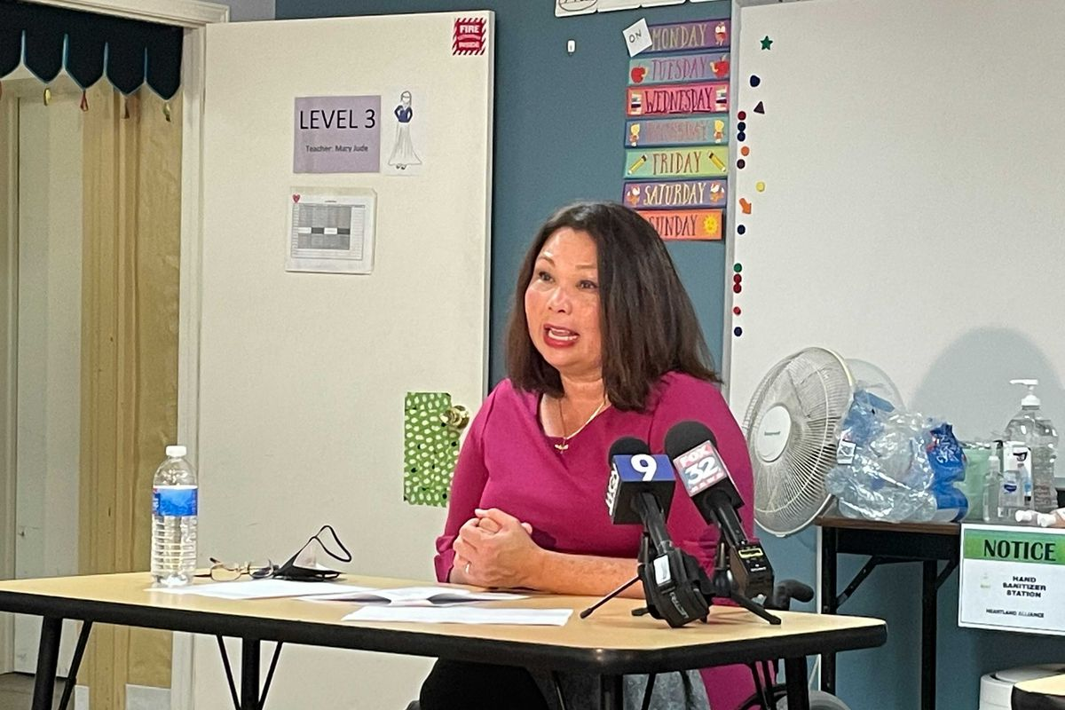 U.S. Sen. Tammy Duckworth encourages Chicago residents to help Afghans who will be resettling in the area after fleeing Afghanistan. More than 800 Afghans are expected to call Illinois their new home in the coming months, she said.
