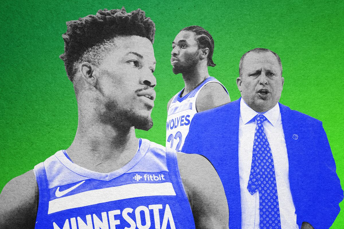 Jimmy Butler, Andrew Wiggins, and Tom Thibodeau